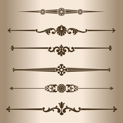 Decorative lines. Elements for design - decorative line dividers.
