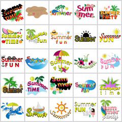 Summer Flat Icons Set: Vector Illustration, Graphic Design. Collection Of Colorful Icons. For Web, Websites, Print, Presentation Templates, Mobile Applications And Promotional Materials