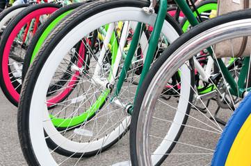 Wheels of bicycles