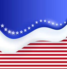 Abstract Illustration of an Independence Day Design
