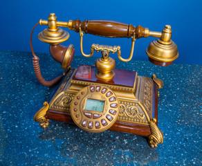 phone, retro, top view