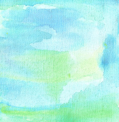 blue watercolor background abstraction