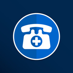 emergency call sign icon vector fire phone number button.