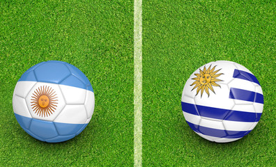 2015 Copa America football tournament, teams Argentina vs Uruguay