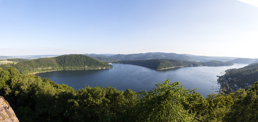edersee lake germany high resolution panoramic picture