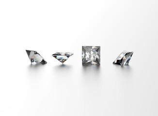 Square shape gemstone. Jewelry background
