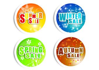 Season Sale - Runde Buttons - Rabatt