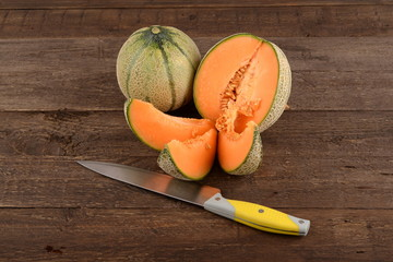 Cantaloupe melon and fragrant summer