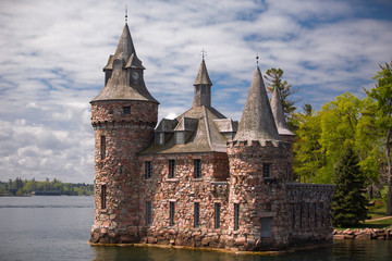 Alexandria Bay, NY  gorgeous amazing view of Boldt Castle, located on heart island in the lake