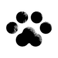 Paw print animal, vector illustration