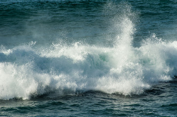 White water surf from ocean wave