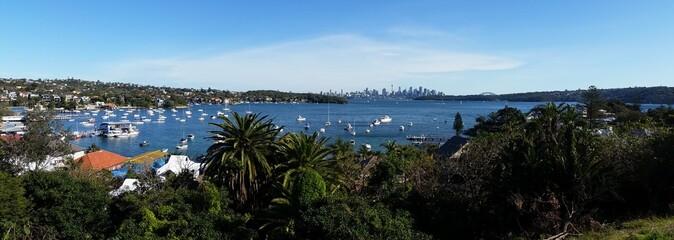 Fototapete - Sydney city from Watson Bay, Australia