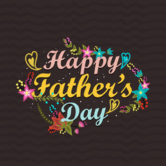 Beautiful greeting card for Happy Father's Day concept.