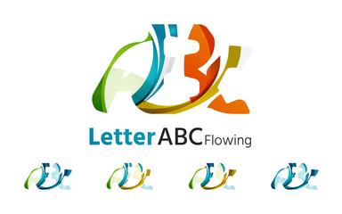 Abc company logo set. Vector illustration.