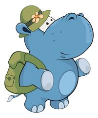 Little hippo. Cartoon