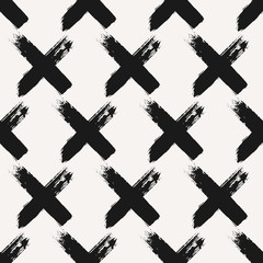 Hand Drawn Cross Shapes Seamless Pattern
