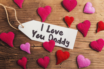 Fathers day composition - studio shot on wooden background