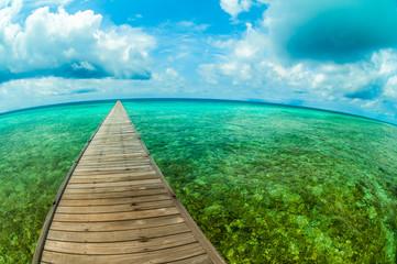 Pier in a tropical sea