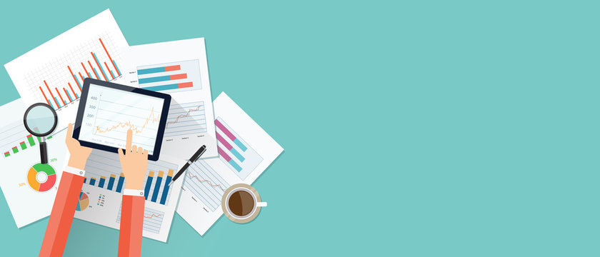 business finance investment background and banner