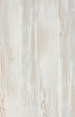 Vertical textured wooden plank. Image of natural wooden shape in warm light brown tones