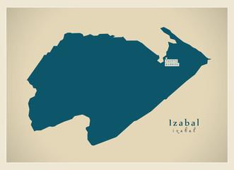 Modern Map - Izabal GT