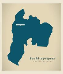 Modern Map - Suchitepequez GT