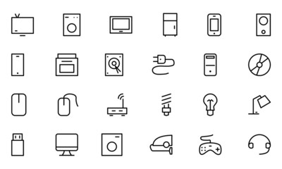 Electronics Vector Line Icons 1