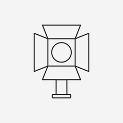 cinema light stand line icon