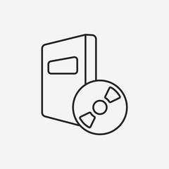 DVD line icon