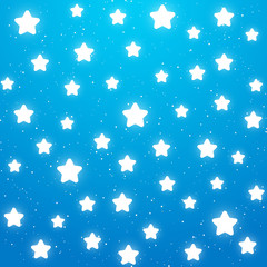 Nights background with shiny stars