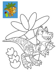 Coloring page - dinosaur - illustration