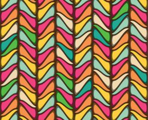 Wall Mural - Seamless geometric vintage wallpaper vector illustration