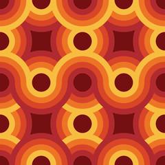 Illustration vectorielle de papier peint vintage géométrique sans soudure