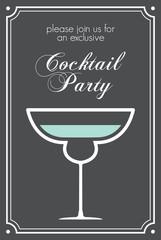 cocktail retro poster