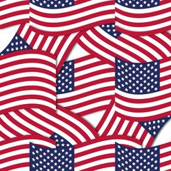 Seamless background with USA flag pattern