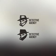 Private detective vector logo.