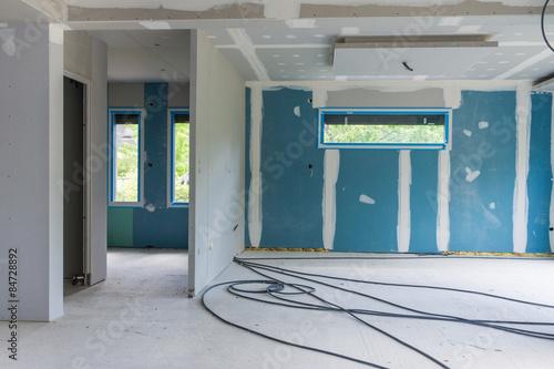 chantier intérieur maison neuve\