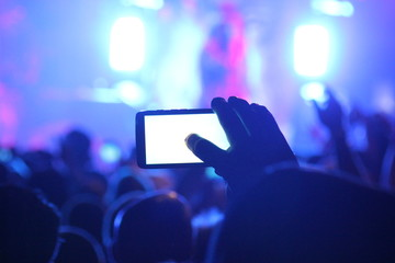 Concert Photo on a Smartphone