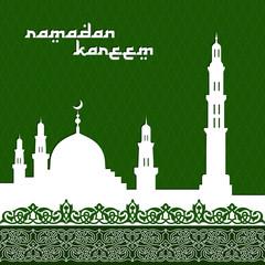 mosque with minaret background