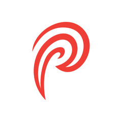 Abstract Letter P Logo Template For Business Consulting Finance