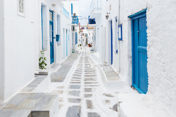 Mykonos streetview, Greece Wall mural