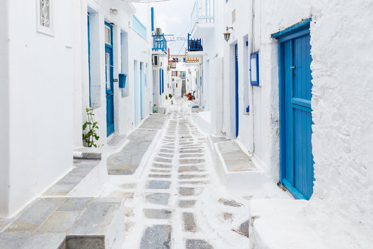 Mykonos streetview, Greece
