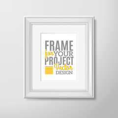Wall photo frame square icon