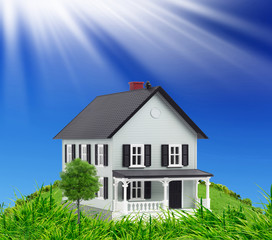 Concept of new house