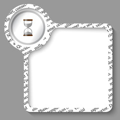 vector box for any text and sand glass