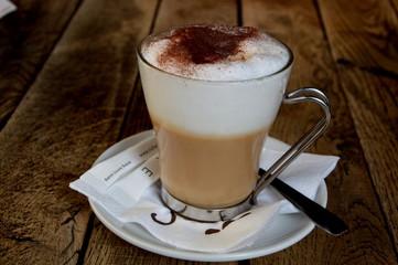 Spoed Foto op Canvas Milkshake Cappuccino