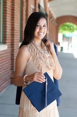 Beautiful high school graduate