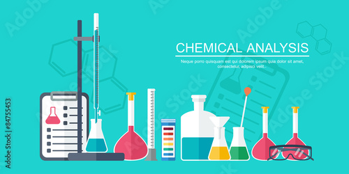 Chemical banner background cover analytical chemistry flat chemical banner background cover analytical chemistry flat design vector ccuart Gallery