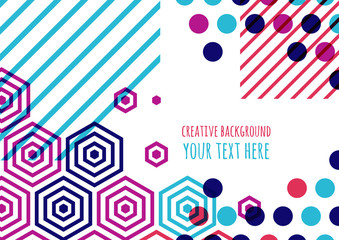 Abstract vector flat background with place for text. Blue, purpl