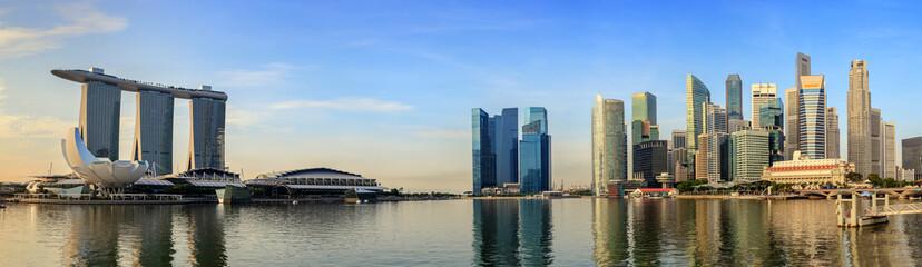 Foto op Plexiglas Singapore Singapore panorama city skyline at Marina Bay